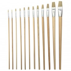 Newsome Long Flat Artists Paint Brush Set of 12