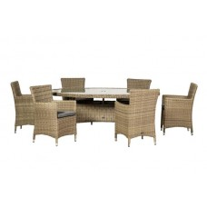 Wentworth Carver Oval 6 Seat Dining Set