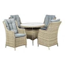 Wentworth Highback 4 Seat Dining Set
