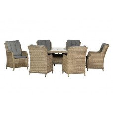 Wentworth Highback Oval 6 Seat Dining Set
