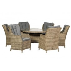 Wentworth Highback 6 Seat Dining Set