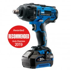 """Storm Force 20V 1/2"""" Mid-Torque Impact Wrench with Battery and Charger"""