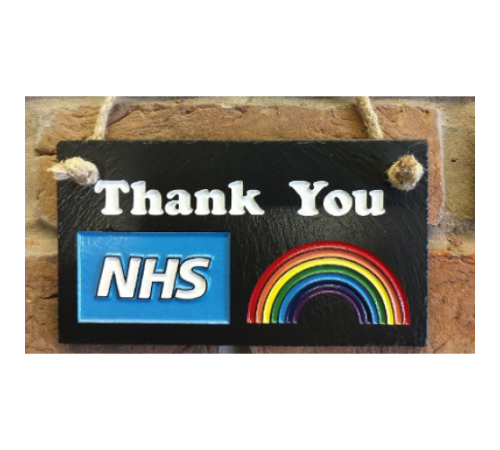 Slate Hanging Sign - Support the NHS (+ Donation to Charity)