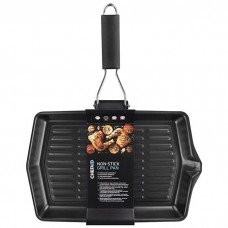 Chef Aid Non Stick Grill Pan with Folding Handle 30cm x 20cm