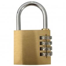 Newsome Brass Combination Padlock - 50mm