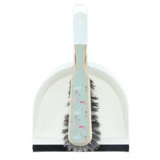 Sorbo Dustpan and Brush Set (Flamingo Pattern)