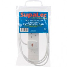 SupaLec 4 Gang Suppressed Extension Lead - 2 Metre