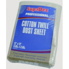 SupaDec Cotton Twill Dust Sheet