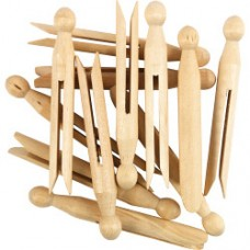 Wooden Dolly Peg (Pack of 24)
