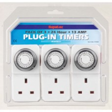 SupaLec Plug-in Timer Sockets - Pack of 3